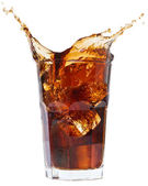 Splash Cola on a white background splash — Stock Photo