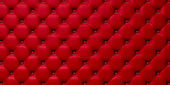 Buttoned on the red Texture. — Stock Photo