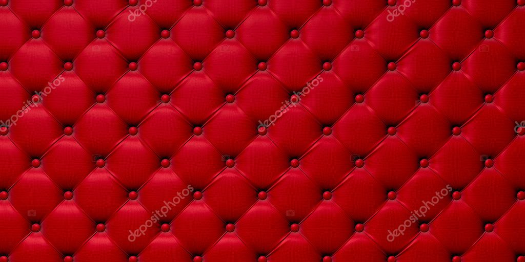 Buttoned on the red Texture. Repeat pattern — Stock Photo #8109755