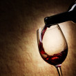 Red Wine glass and Bottle — Stock Photo #8351235