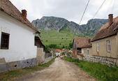 Road in a romanian village — Stock Photo