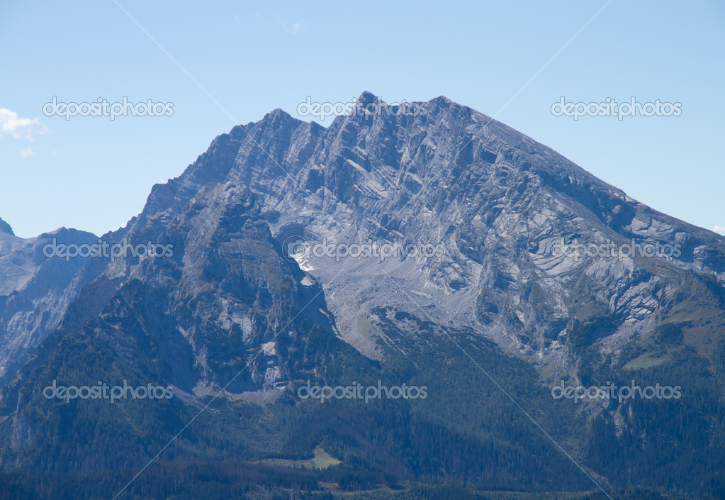The Watzmann, the third highest mountain in Germany — Stock Photo #8756159