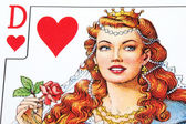 Playing card queen view detail — Stock Photo