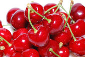 Many cherries large view — Stock Photo