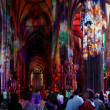 Panoramic view church in vienna - Stock Photo
