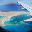 View of the sea by aircraft — Stock Photo #8501678