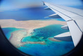 View of the sea by aircraft — Stock Photo