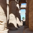 Columns of stone in temple — Stock Photo