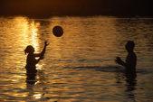 Hrací míč pár — Stock fotografie