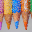 Stock Photo: Colored pencil with many bubble