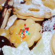 Colorful Christmas cookies - Stockfoto