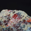 Quartz mineral macro view — Foto Stock