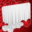 Heart and Flowers on Valentines Day Card — Imagen vectorial