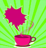 Coffee poster pop art style — Stock Vector