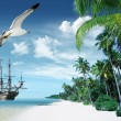 Stockfoto: Oceand tropical island