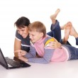 Mom and son with laptop — Stock Photo #7963767