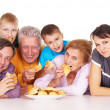Royalty-Free Stock Photo: Family with buns