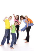 Funny kids on white — Stock Photo