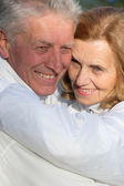 Lovely old couple — Stock Photo