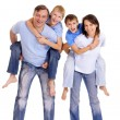 Royalty-Free Stock Photo: Cute happy family