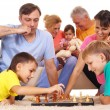Family playing chess — Stock Photo #8005178