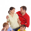 Parents and kids playing — Stock Photo #8005482