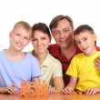 Family at table — Stock Photo #8005541