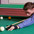 Guy playing billiards — Stock Photo #8006108