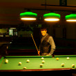 Man plays billiards — Stock Photo