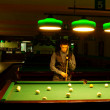 Man plays billiards — Stock Photo #8006172