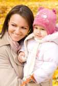 Mom and little daughter — Stock Photo