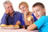 бабушки и дедушки и детские — Стоковое фото