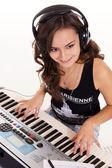 Musician at piano — Stock Photo
