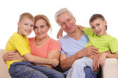 Grandparents and kids — Stock Photo