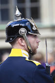 Stockholm: swedish royal guard — Stock Photo