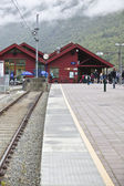 Flam, norway: railway station — Stock Photo