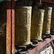 Stock Photo: Tibet: prayer wheels
