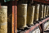 Tibet: prayer wheels — Stock Photo