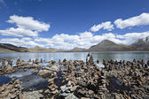 Tibet: lake si jin la cuo — Stock Photo