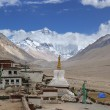 Tibet: rongbuk monastery — Stock Photo