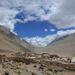 Tibet: rongbuk monastery at foot of mt. everest — 图库照片 #8470396
