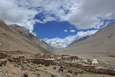 Tibet: rongbuk monastery at the foot of mt. everest — Foto de Stock