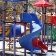 Stock Photo: Slides in the park