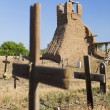 Stock Photo: Church Ruins and Graveyard