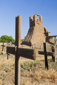 Church Ruins and Graveyard — Stock Photo