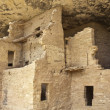 Native american cliff dwelling - Stock Photo