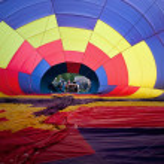 Inflating Hot Air Balloon — Stock Photo