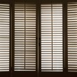 Stockfoto: Wooden Window Shutters