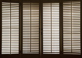 Wooden Window Shutters — Stock Photo