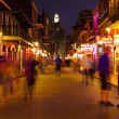 Foto de Stock  : New Orleans, Bourbon Street at Night, skyline photography